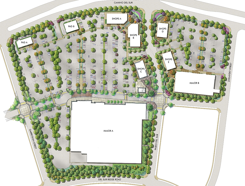 Del Sur Town Center site plan